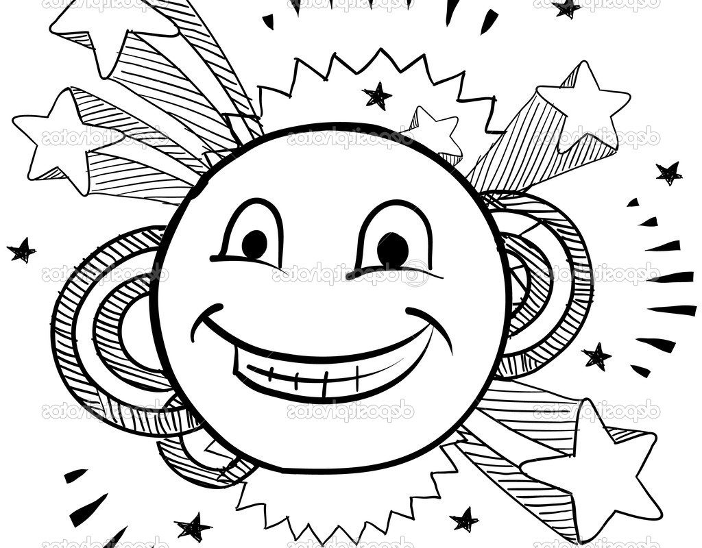 1024x800 Printable Smiley Happy Face Coloring Pages For Kids Free Stock