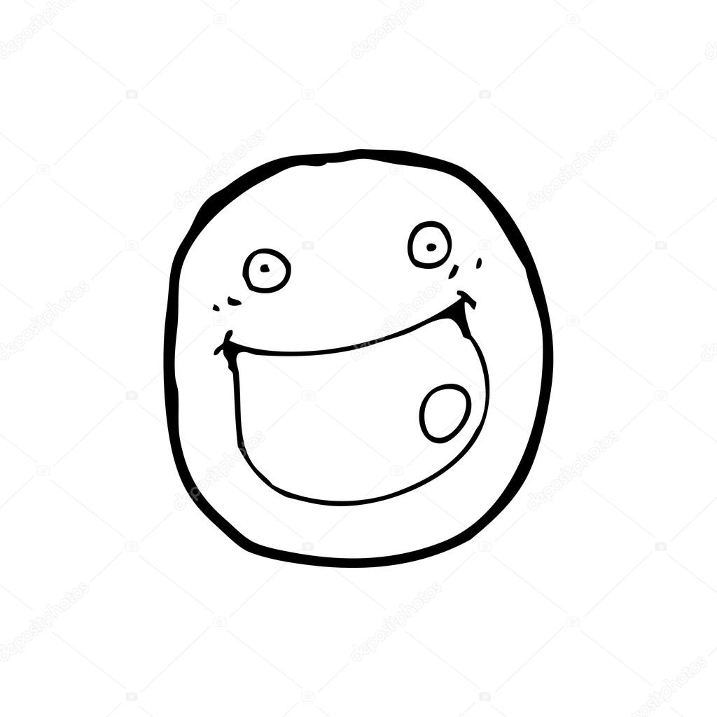1024x1024 Really Happy Face Cartoon Stock Vector Lineartestpilot