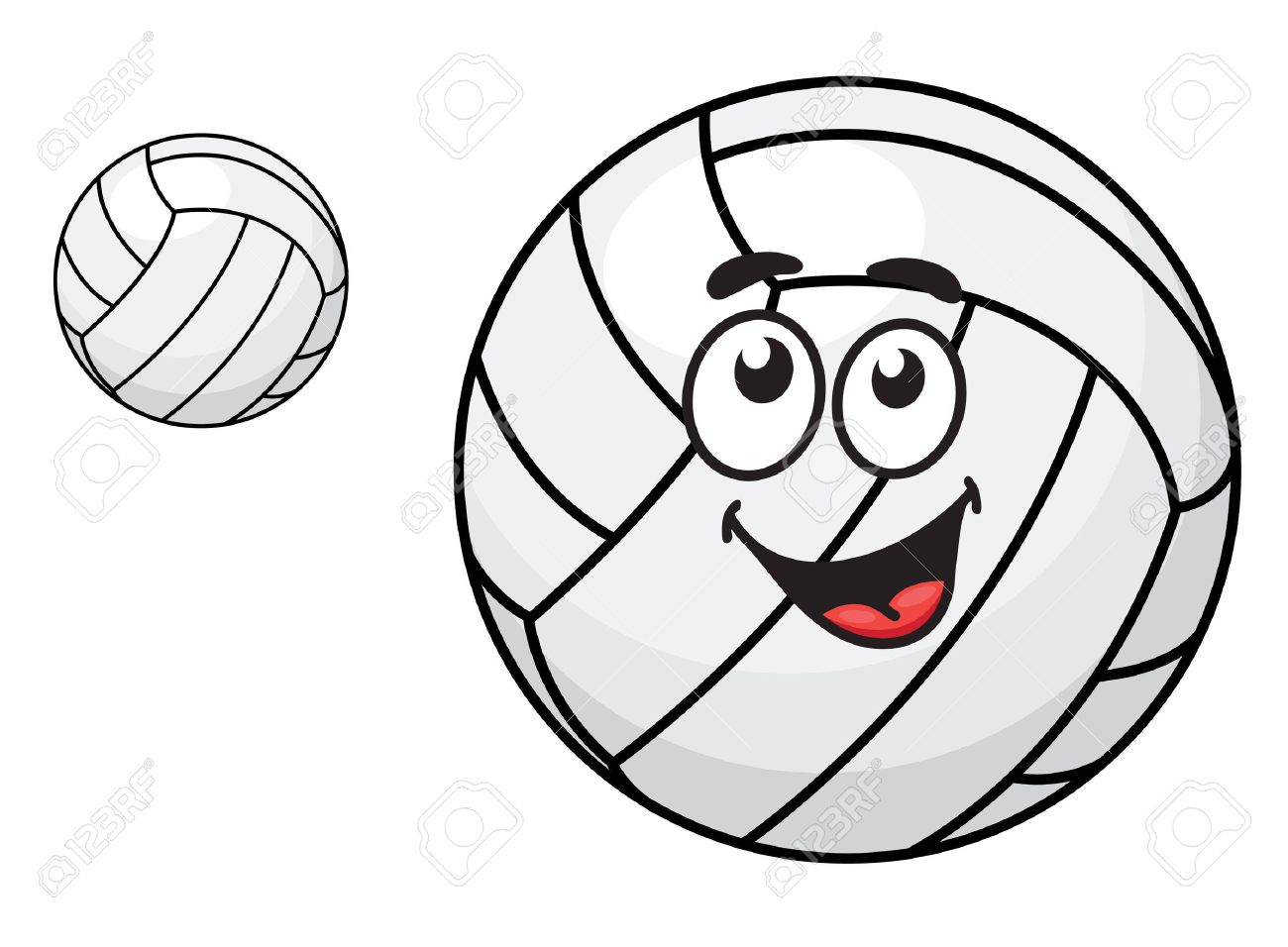 1300x956 Two Volleyballs, One With A Happy Smiling Face And Other Without