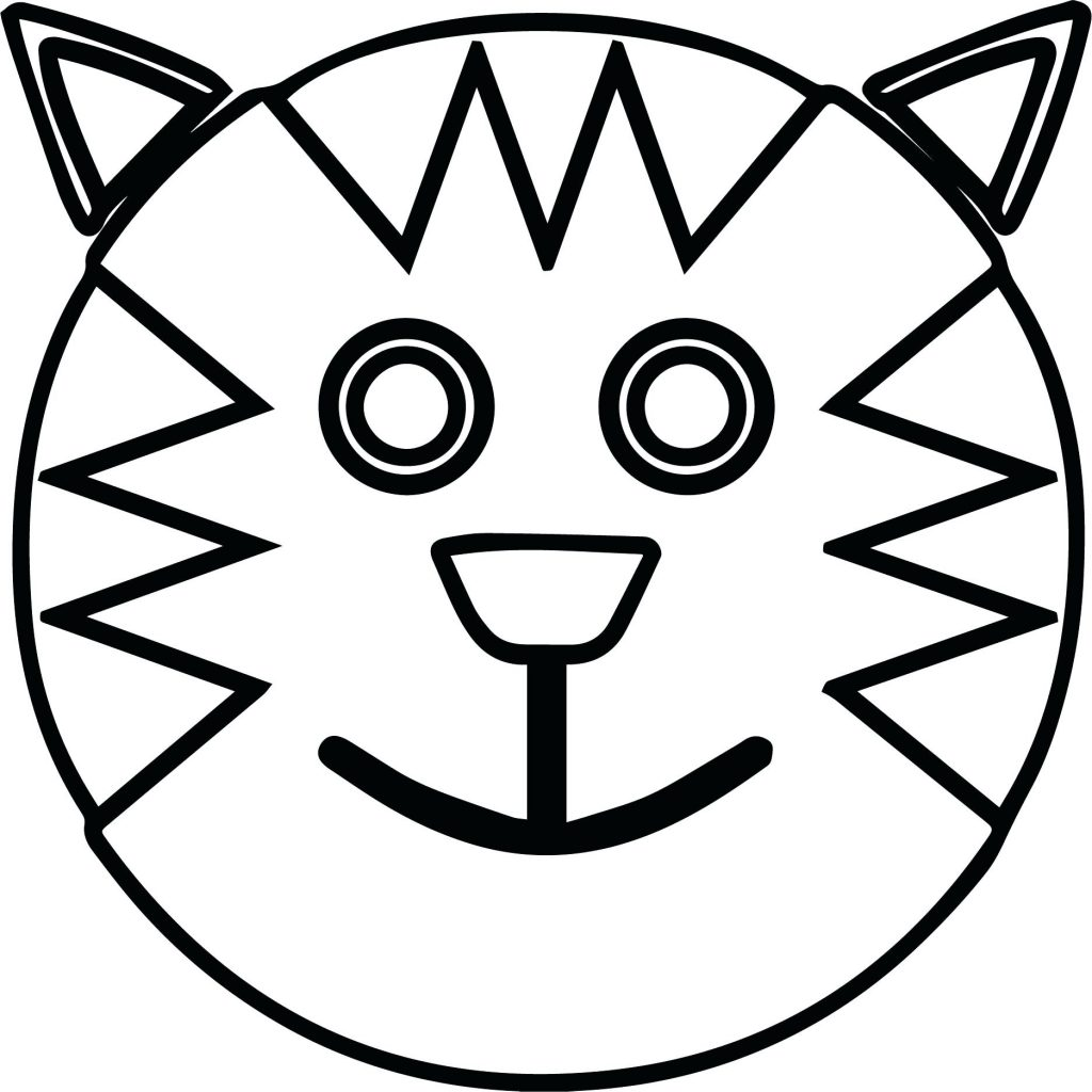 1024x1024 Coloring Page ~ Happy Face Coloring Page Monkey Smile Scary