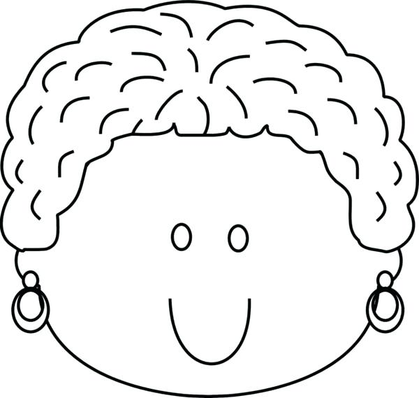 600x569 Happy Face Coloring Page Woman Happy Face Coloring Page Smiley