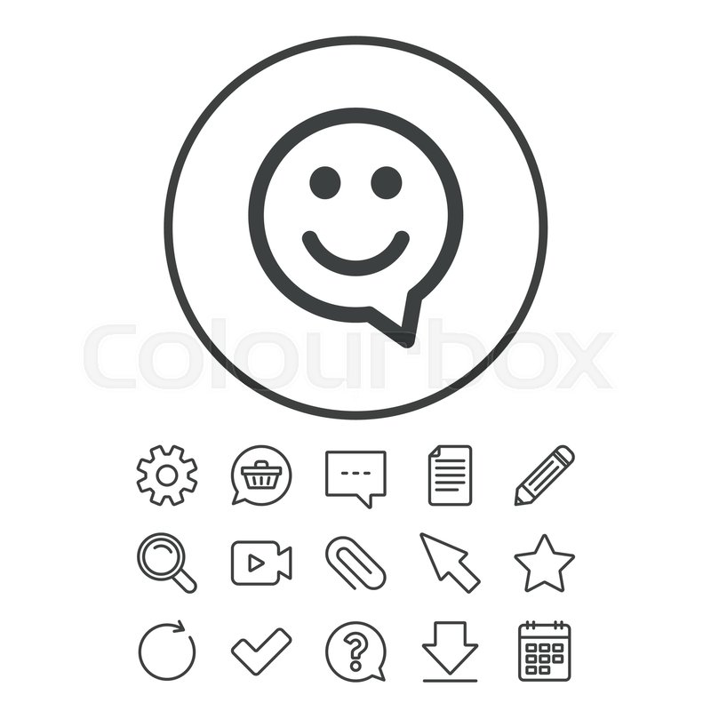 800x800 Happy Face Chat Speech Bubble Symbol. Smile Icon. Document, Chat