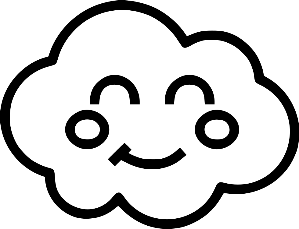 980x752 Cloud Happy Face Svg Png Icon Free Download ( 504810