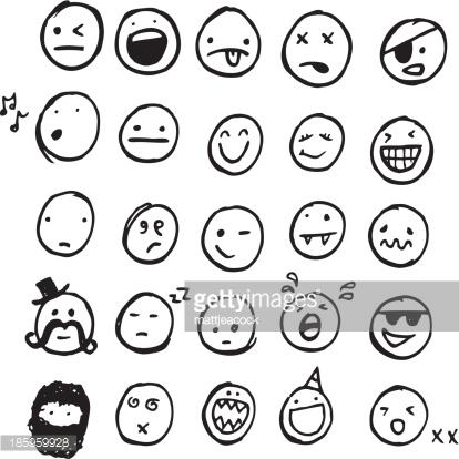 414x414 Smiley Face Sketch
