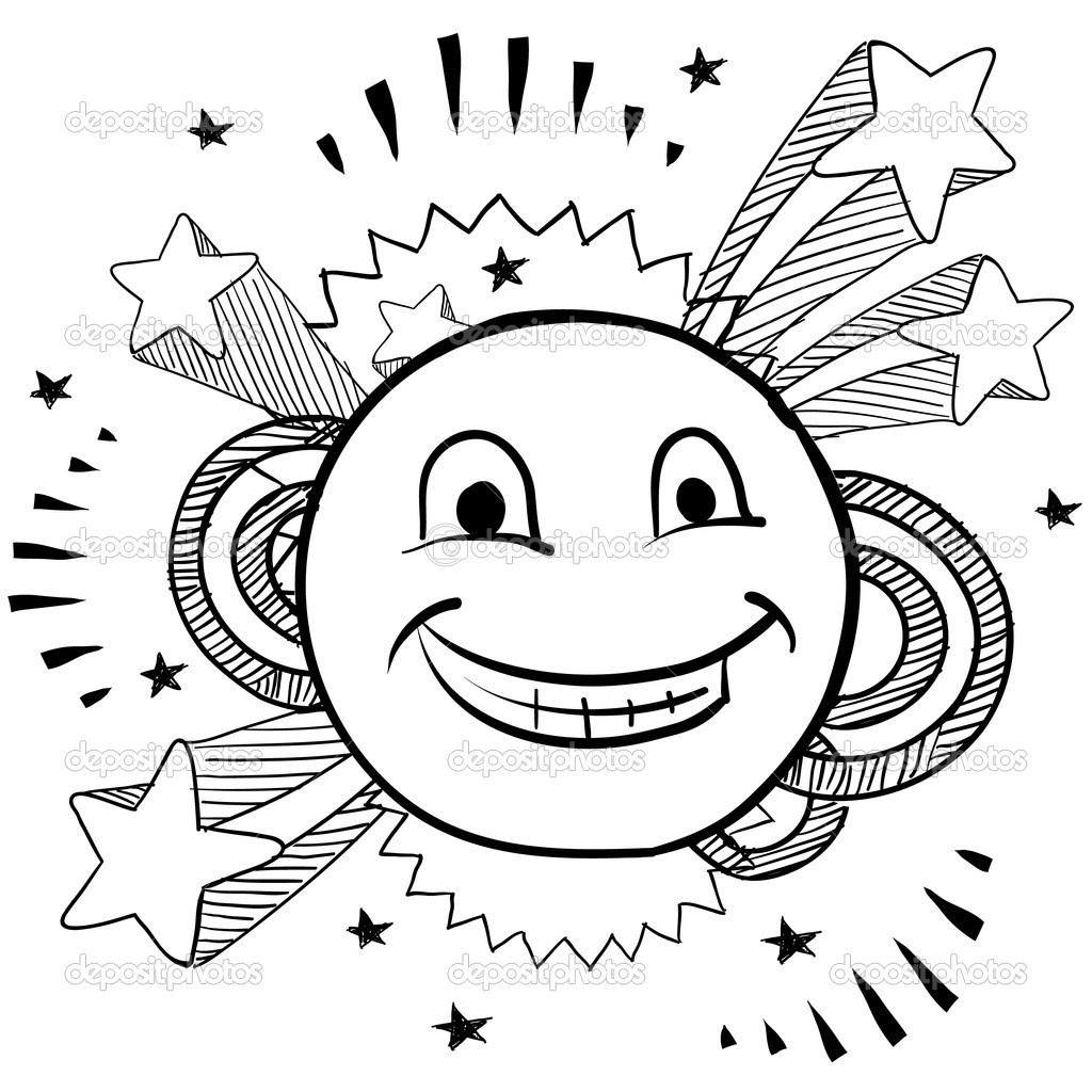 1024x1024 Drawing Of Happy Face