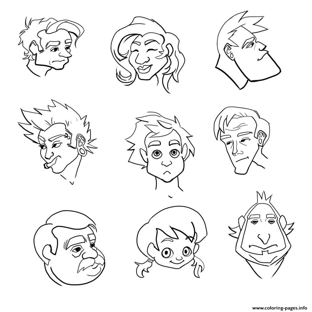 1024x1024 Emotion Coloring Pages