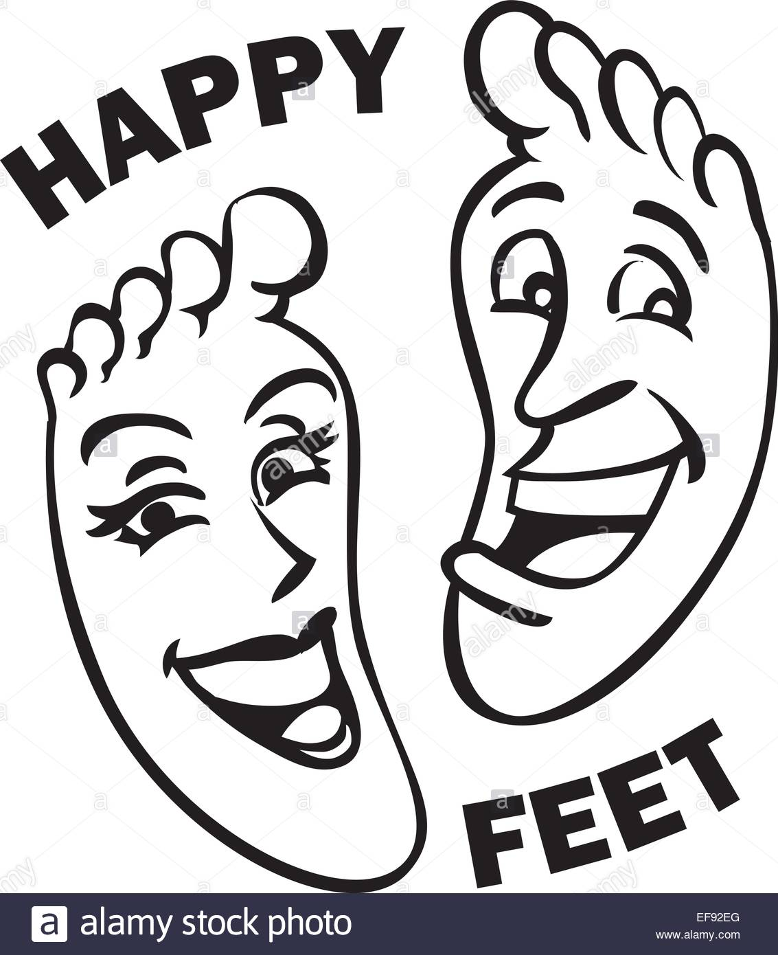 1133x1390 A Pair Of Feet With Smiley Faces And The Words Happy Feet Written