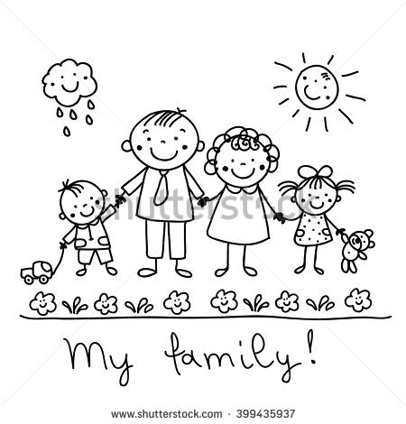 450x470 Graphic Drawing Happy Family Palitos Happy Family