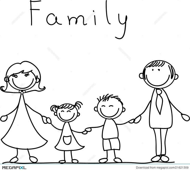 800x717 Happy Family Holding Hands, Vector Illustration 21621309