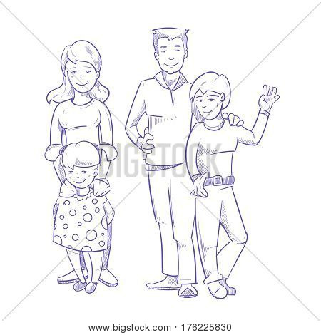 450x470 Happy Family Young Children Hand Vector Amp Photo Bigstock