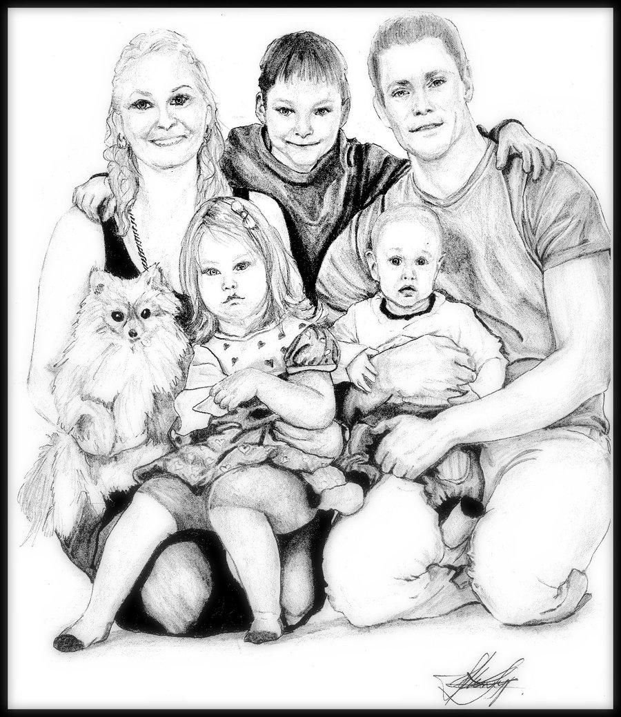 900x1039 Happy Family By Fantaasiatoidab