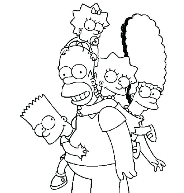 600x628 Here Are Simpsons Coloring Pages Images Happy Family The Coloring
