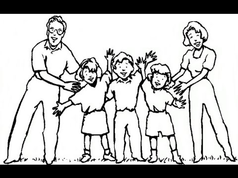 480x360 How To Draw A Happy Family