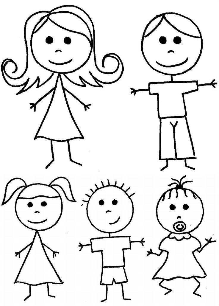 736x1027 Drawn Cute Family Drawing