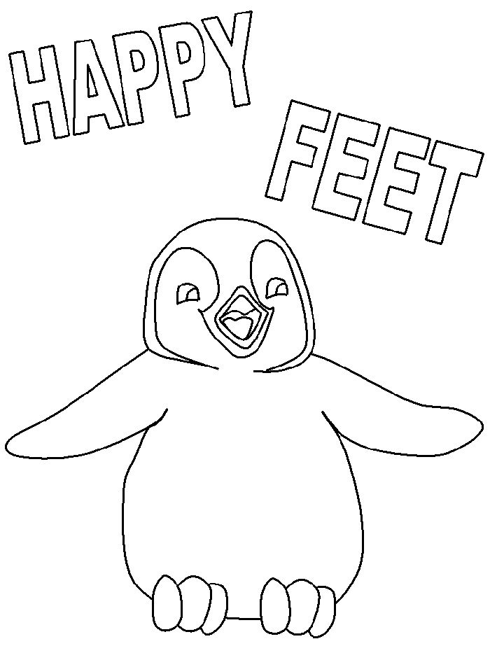 Happy Feet Drawing at GetDrawings | Free download