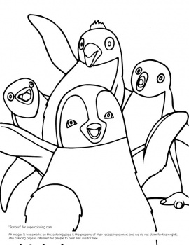 270x350 Happy Feet Coloring Pages Happy Feet Erik And Others Coloring