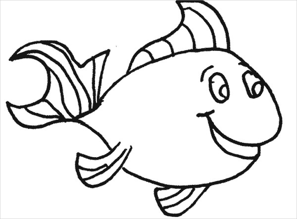 Happy Fish Drawing