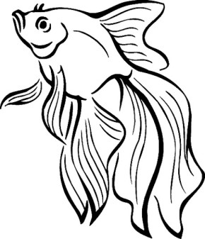 290x337 Fish Clown Fish Coloring Page, Clown Fish, Cartoon Fish Coloring