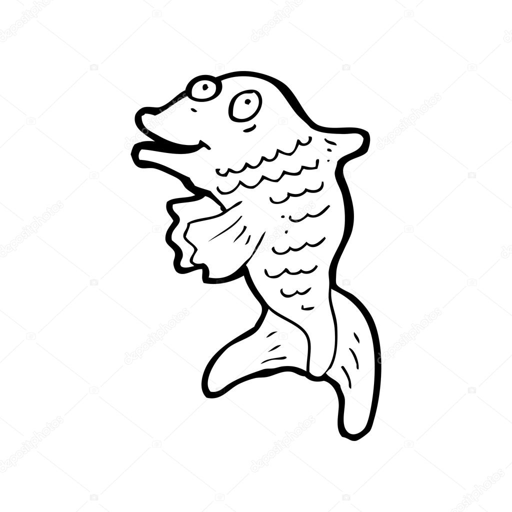 1024x1024 Happy fish clapping — Stock Vector © lineartestpilot