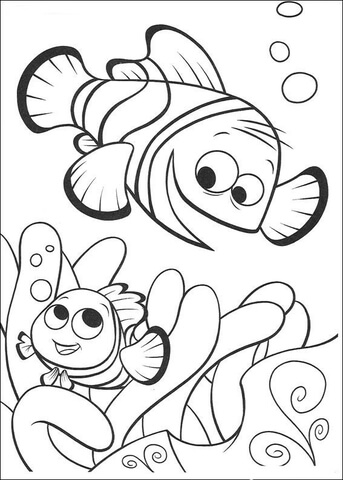 343x480 Happy fish coloring page Free Printable Coloring Pages