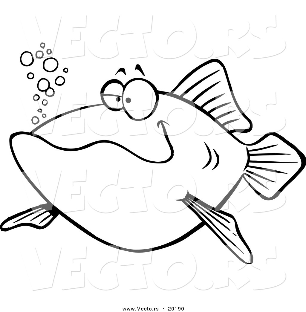 1024x1044 Vector of a Cartoon Happy Fish