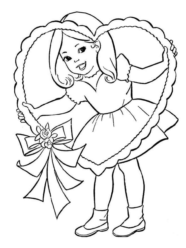 750x1000 Happy Girl Coloring Pages. Free Printable Happy Girl Coloring Pages.