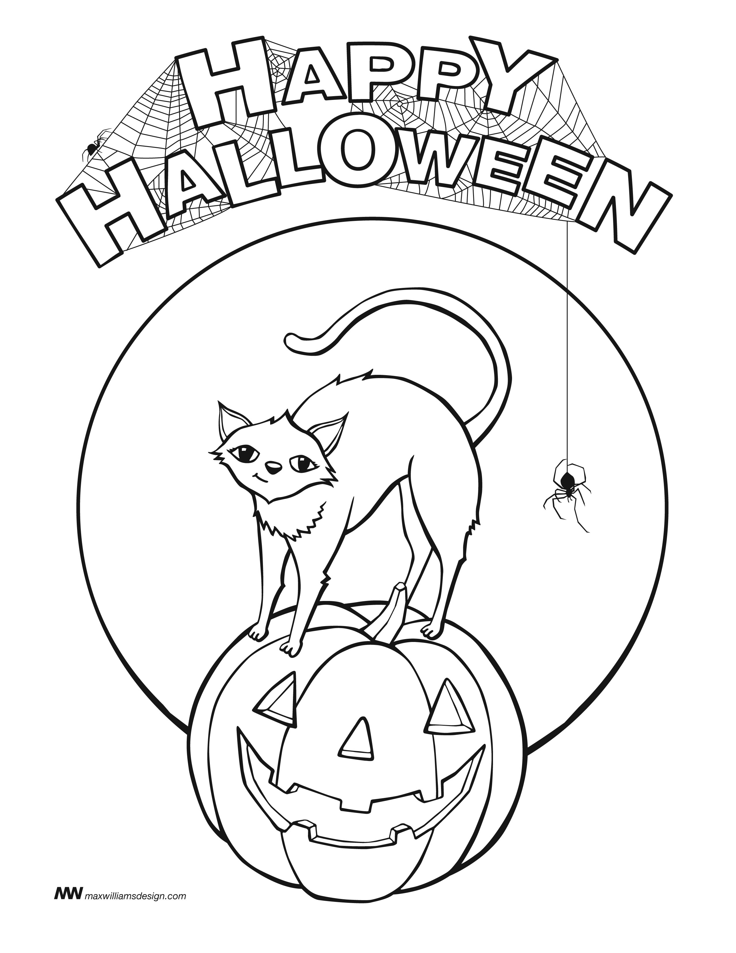 2550x3300 Halloween Coloring Pages Happy Halloween! Free Coloring Page