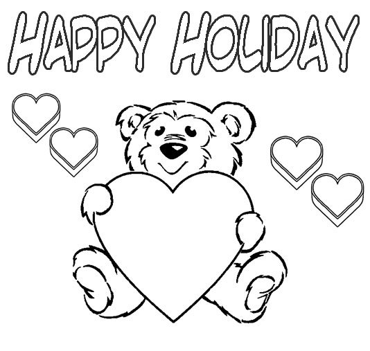 534x507 Happy Holiday Coloring Pages
