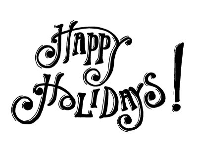 400x300 Happy Holidays Lettering By Charlie Murchy