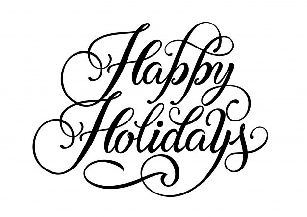 626x443 Happy Holidays Lettering Vector Free Download