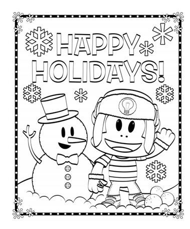 379x456 Happy Holidays Coloring Pages Coloring Page For Kids