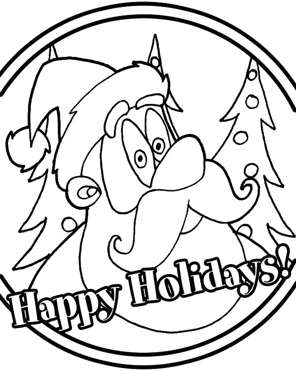 600x750 Happy Holidays Coloring Pages Murs