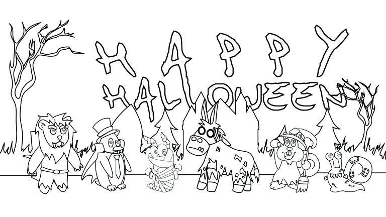 768x432 Halloween Kids Coloring Pages Best Collection Coloring Pages