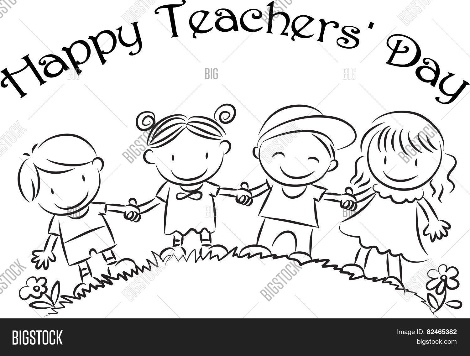 1500x1136 Drawing On Teachers Day Teachers Day Drawing For Kids Stepstep
