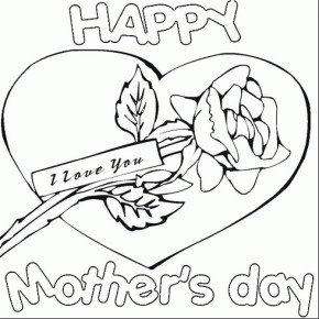 290x290 Mothers Day Best Mom Coloring Page, Happy Mother's Day, Happy