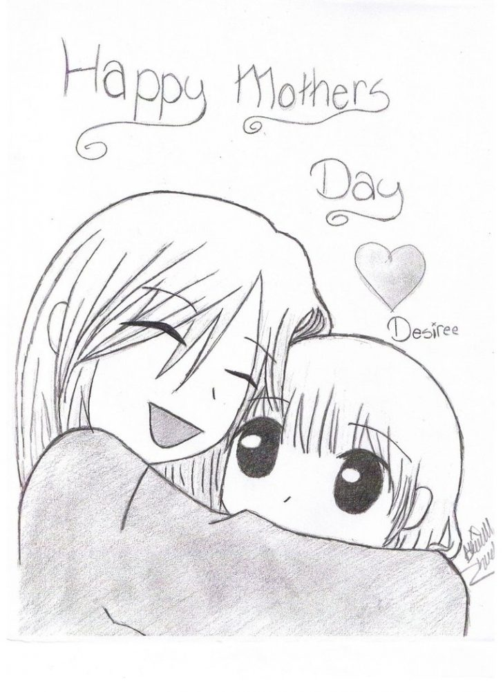 728x1001 Uncategorized ~ Mother Day Drawing Mothersmothers Drawings
