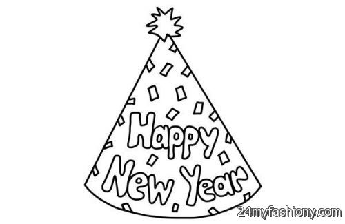 500x325 Happy New Year Hat Coloring Pages Images 2016 2017 B2b Fashion