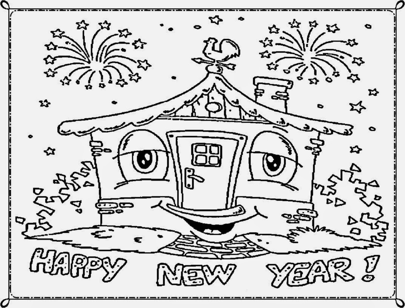 1396x1063 New Year Drawing Merry Christmas And Happy New Year 2018