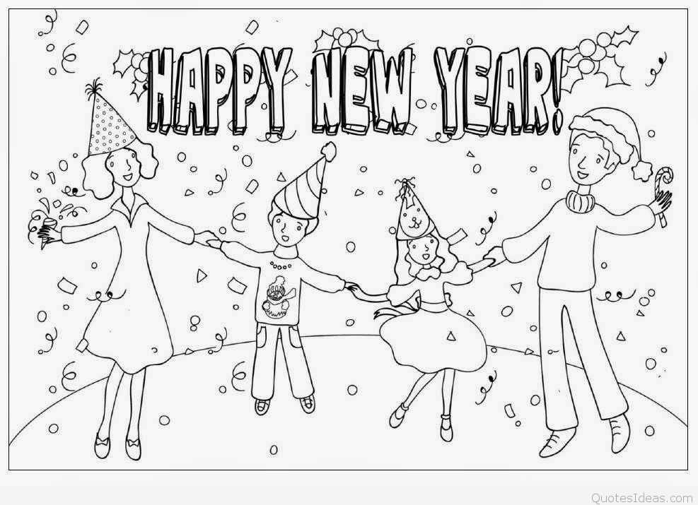 987x715 Party New Year Drawings Merry Christmas Amp Happy New Year 2018 Quotes