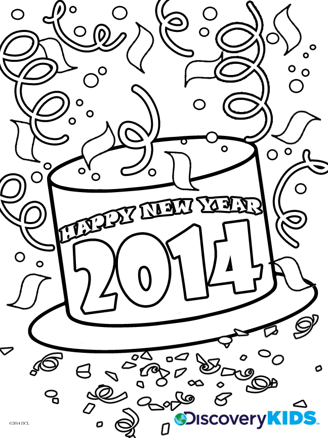 648x864 Happy New Year Coloring Page Discovery Kids