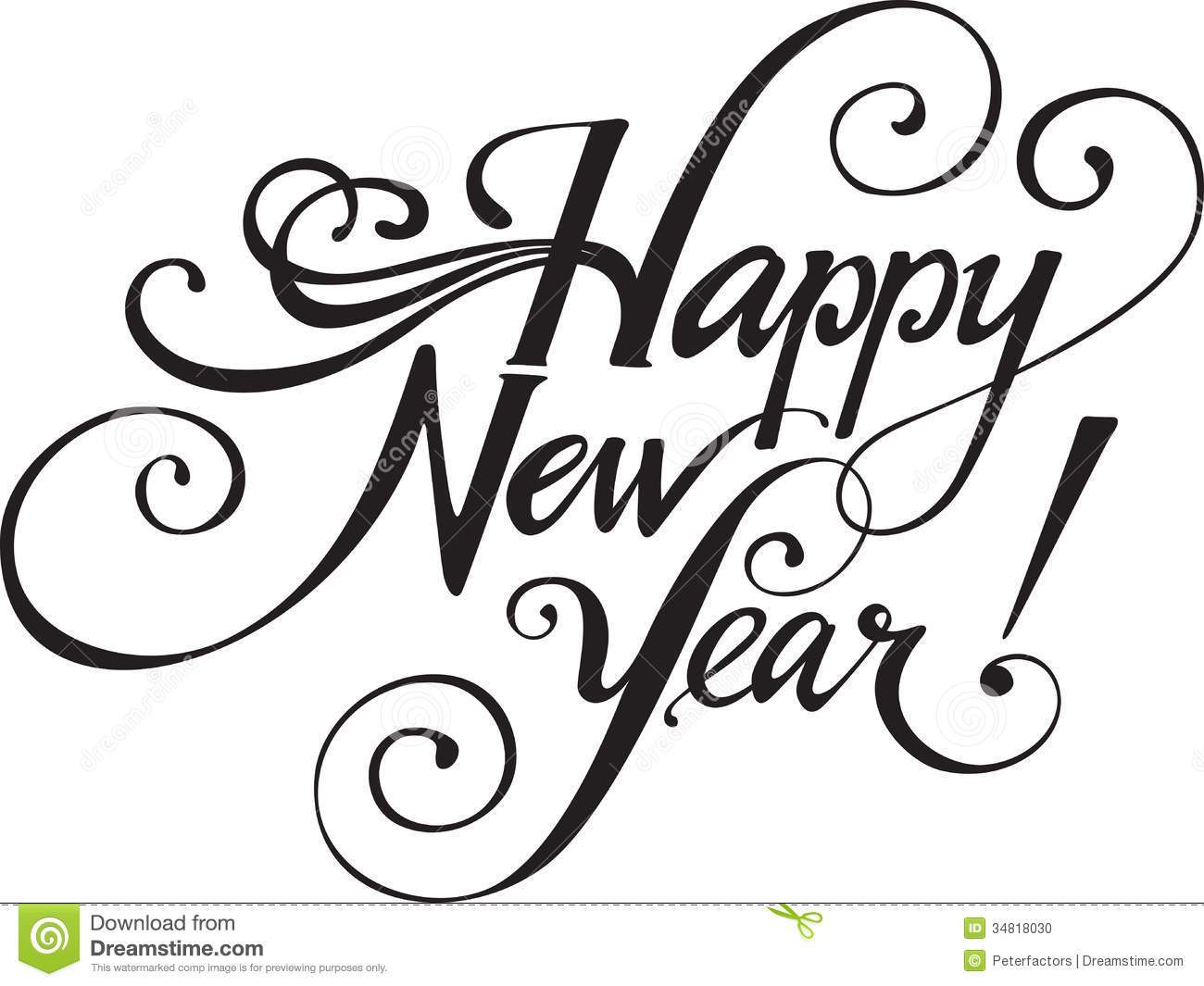 1300x1065 Black And White New Year Drawings Merry Christmas And Happy New