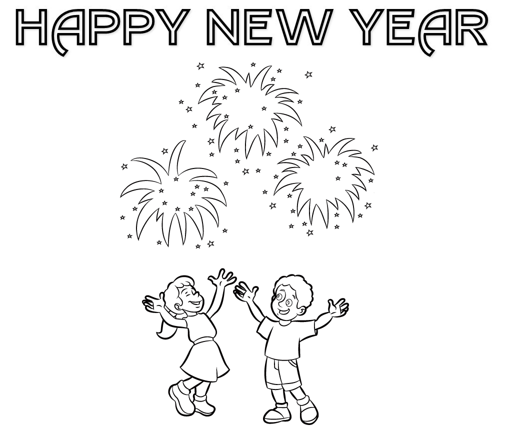 1034x864 Top Celebrations Happy New Year Coloring Pages