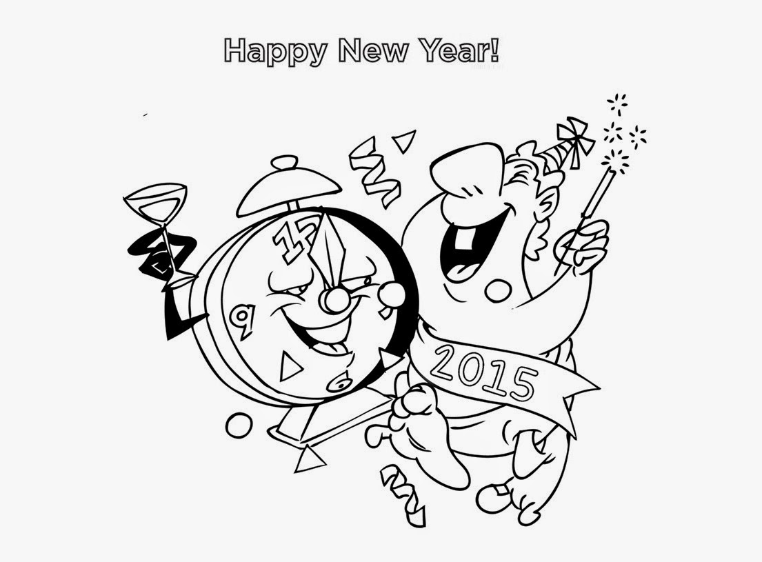 1105x815 Colour Drawing Free Wallpaper Happy New Year 2015 Coloring