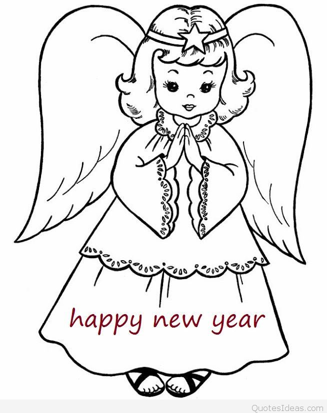 654x827 Drawing New Year Wishes Merry Christmas And Happy New Year 2018