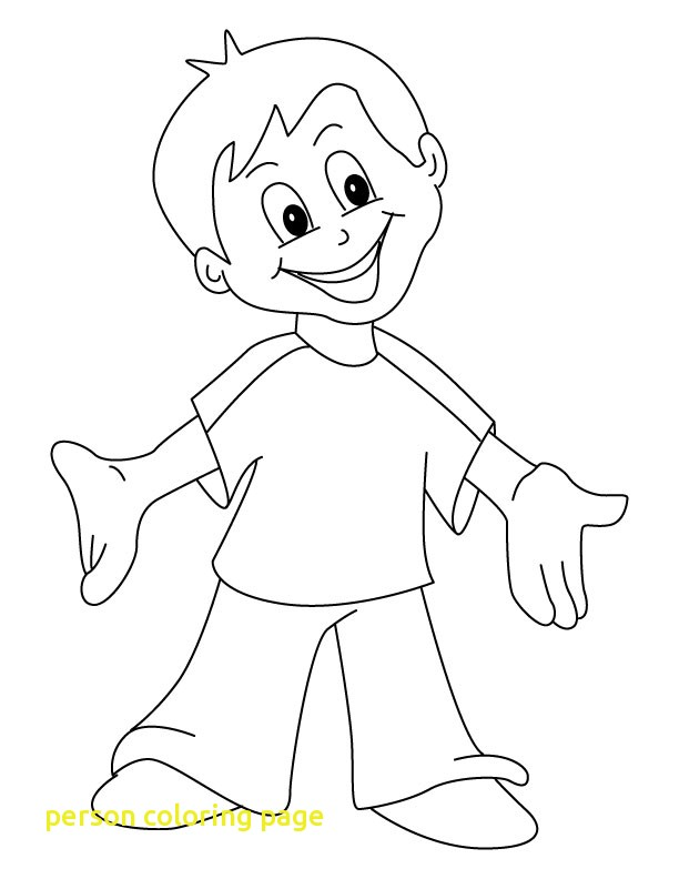 612x792 Person Coloring Page With Happy Coloring Page