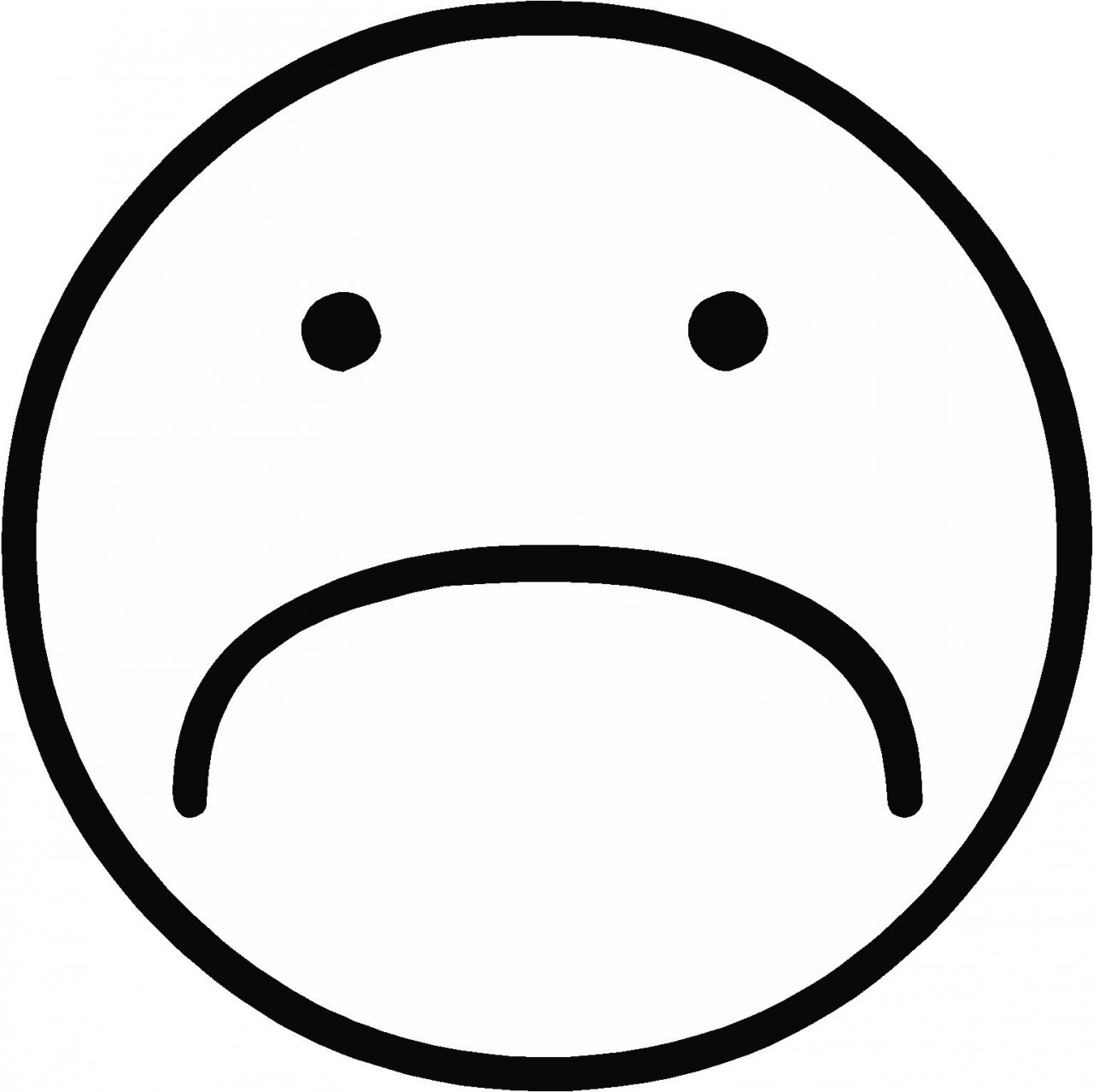 1280x1279 Sad Coloring Pages