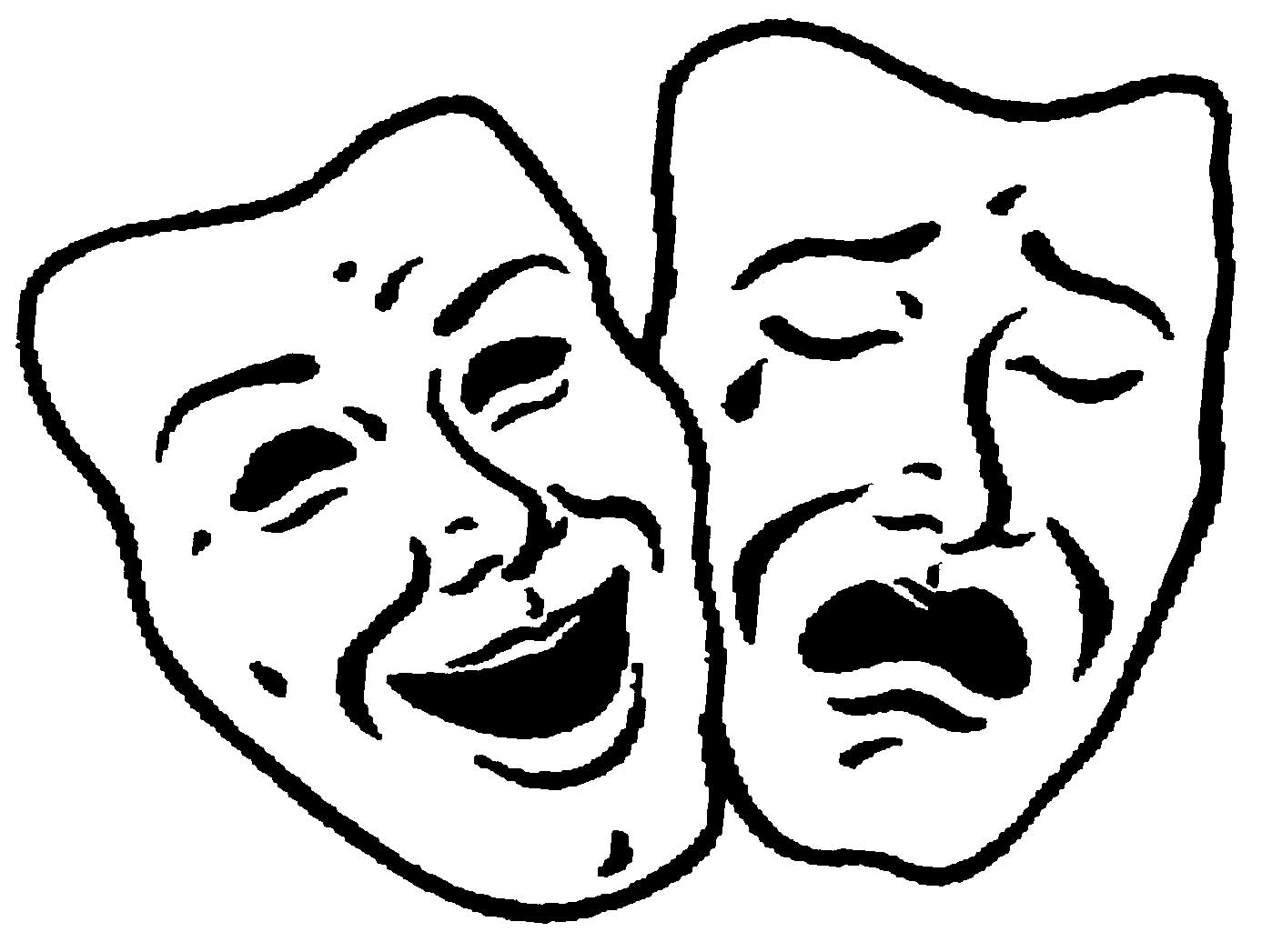 1398x1047 Comedy And Tragedy Theatre Faces The Artifice
