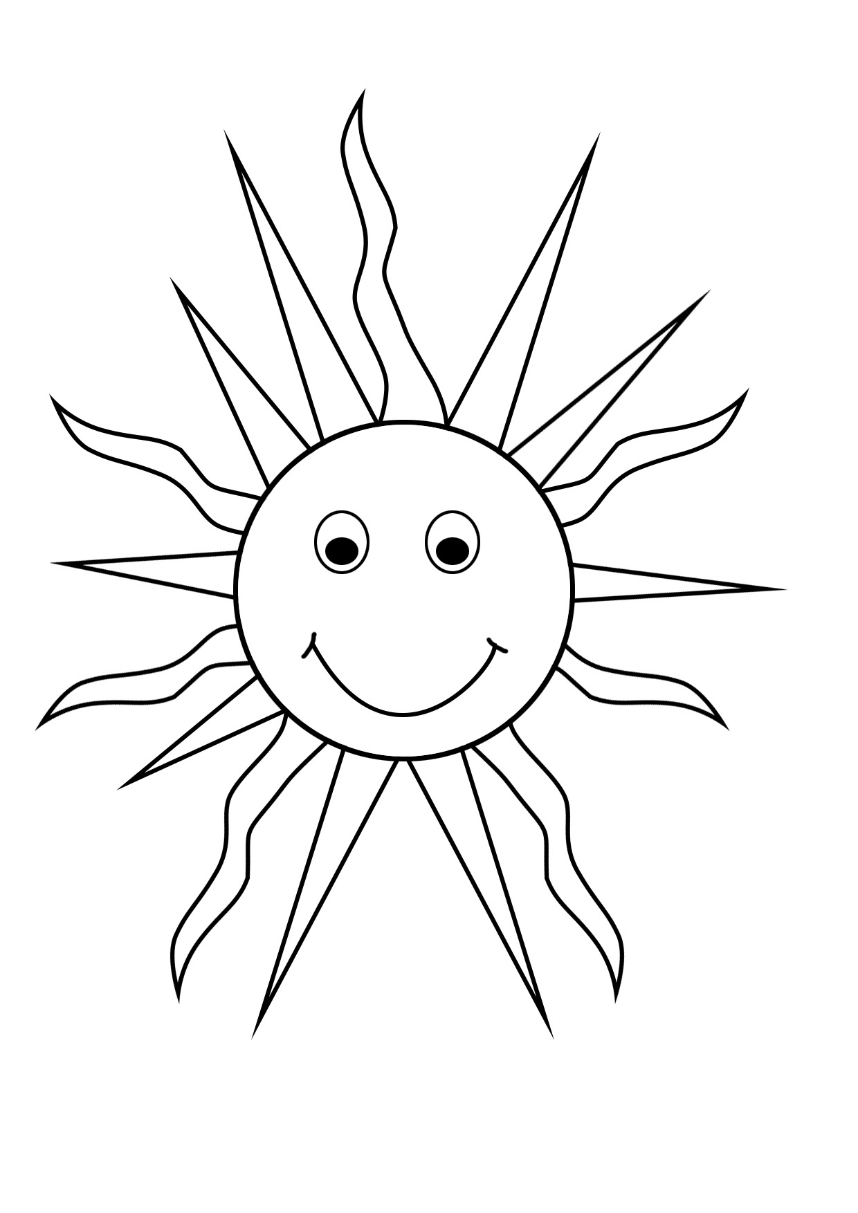 1240x1754 Amazing Coloring Page Sun 42