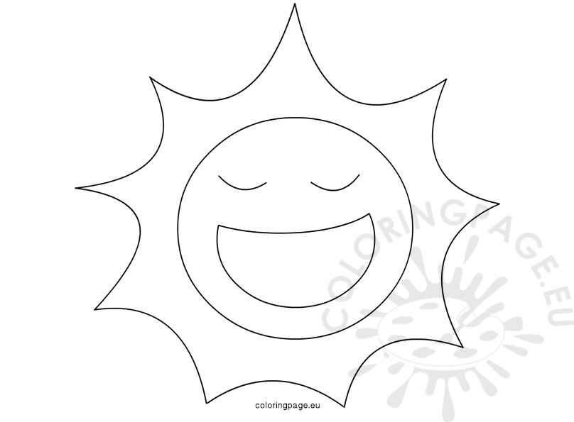 808x595 Happy Sun Summer Colorings Children Design Coloring Page