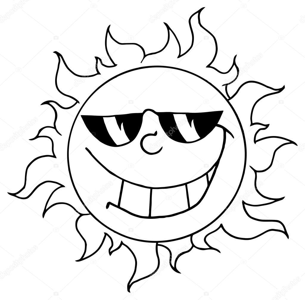 1024x1008 Outlined Happy Sun Stock Vector Hittoon